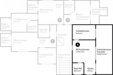 Grundriss App 4 im Erdgeschoss
