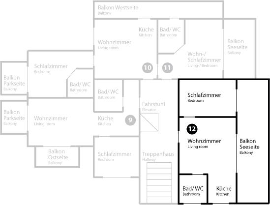Grundriss App 12 im Dachgeschoss