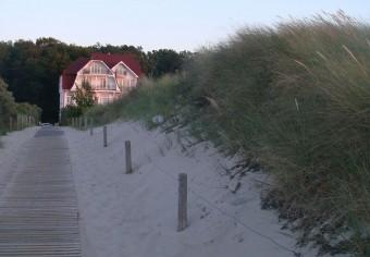 Villa Schwalbe vom Strand
